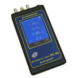 CPC-461 Profesionálny vodotesný merač pH/ORP, vodivosti a slanosti s dotykovým displejom v kufríku