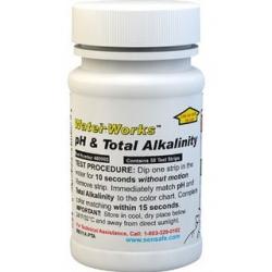 WaterWorks Testovacie papieriky na pH a celkovú alkalinitu, 50 testov - exspirované