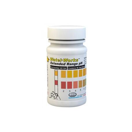 WaterWorks testovacie papieriky na kontrolu pH - rozšírený rozsah