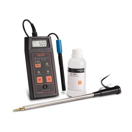 HI 993310 Sada pre pôdnu činnosť a meranie EC - konduktometer pre pôdu