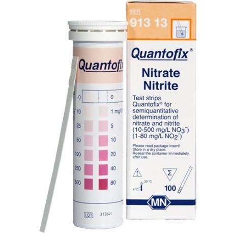 Quantofix Testovacie prúžky na meranie dusitanov a dusičnanov, 100 ks