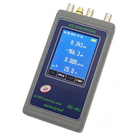 CRC-461 Vodeodolný profesionálny merač pH/REDOX/EC
