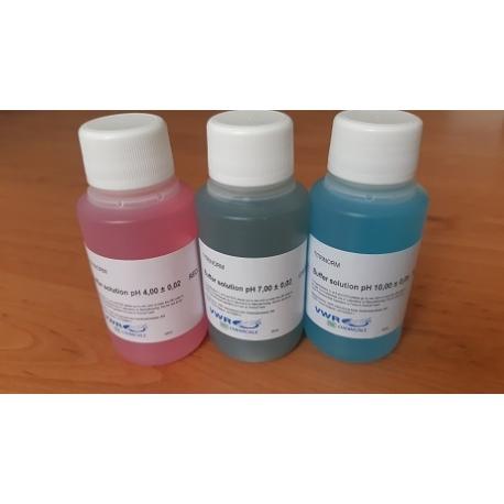 Sada kalibračných roztokov pH 4.00, 7.00 a 10.00, 3 x 100 ml