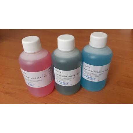 Sada kalibračných roztokov pH 4.00, 7.00 a 10.00, 3 x 250 ml