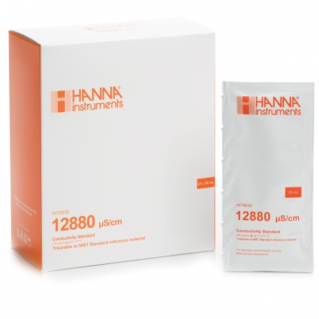 Hanna Instruments HI70030 Kalibračný roztok na EC 12880 µS/cm, 25 x 20 ml