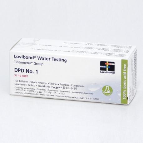 DPD NO. 1, Tabletky na voľný chlór, 100 tabliet